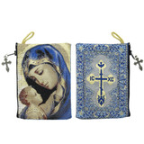 Madonna & Child Rosary Tapestry Pouch