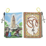 Our Lady of Fatima Rosary Tapestry Pouch