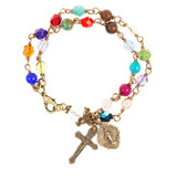 Chapel Window Rosary Bracelet