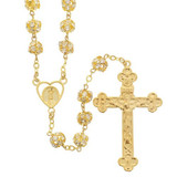 Fatima Gold & Crystal Rosary