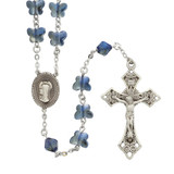 Blue Crystal Butterfly Rosary