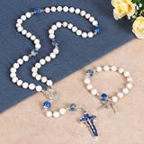 Lourdes Rosary Bracelet & Lourdes Magnesite Rosary (Gift Set)