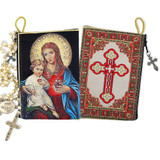 Immaculate Heart Rosary Pouch