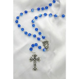Swarovski Sapphire Blue Rosary, 8mm
