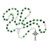 Irish Jade Glass Rosary 8mm