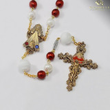 Murano Glass Divine Mercy Rosary