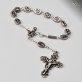 Fatima Apparition Silver Plated Decade Auto Rosary