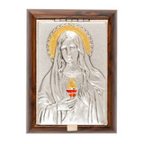 Immaculate Heart Plaque Rosary Keepsake Box