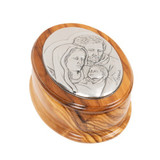 Olive Wood Holy Family Rosary Keepsake Box
