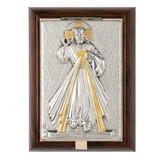 Divine Mercy Wood-Metal Rosary Keepsake Box