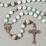 Miraculous Medal Amazonite Rosary