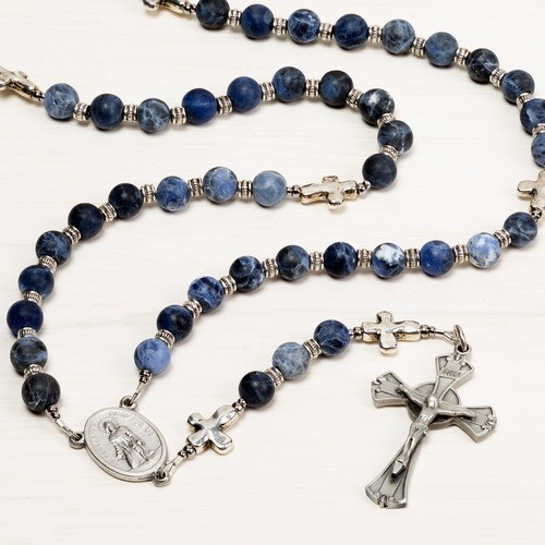Blue and Silver St. Peregrine Rosary
