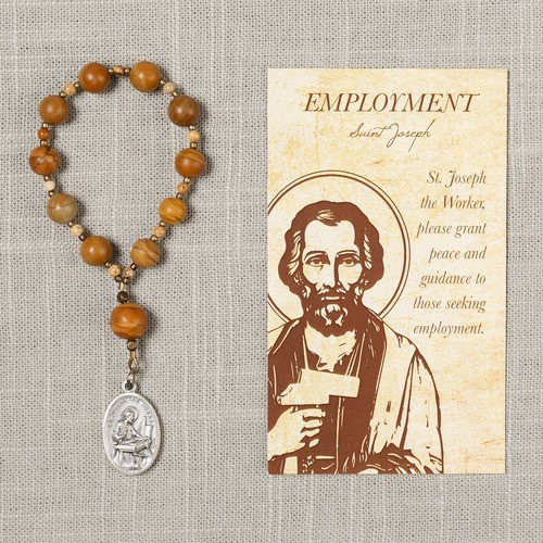 St. Joseph Employment Decade Rosary & Card