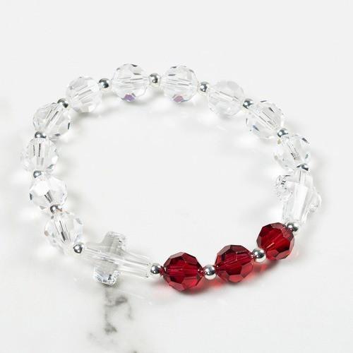 July Birthstone Rosary Bracelet