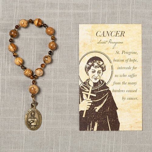 St. Peregrine Cancer Healing Decade Rosary with Card