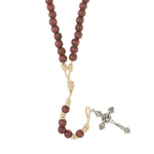 Life of Jesus Wood Paracord Rosary