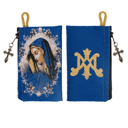 Our Lady of Sorrows Rosary Tapestry Pouch
