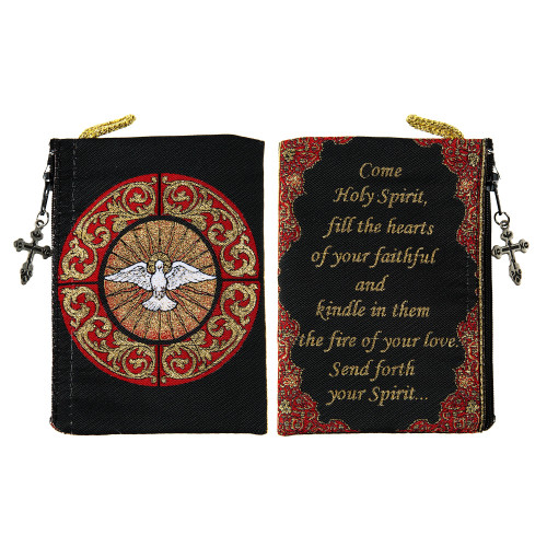Holy Spirit Rosary Tapestry Pouch