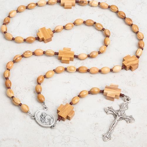 St. Anthony Olive Wood Rosary