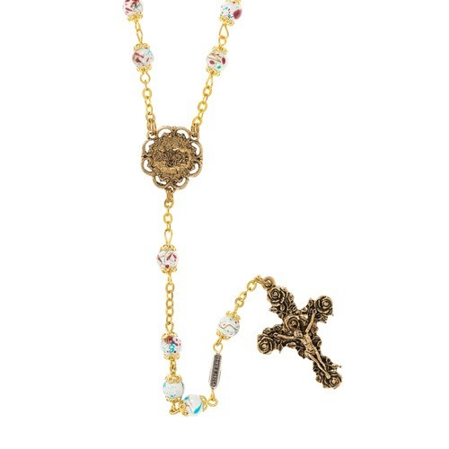 Mary Love Rosary - Gold Plated