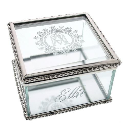 Ave Maria Glass Keepsake Box