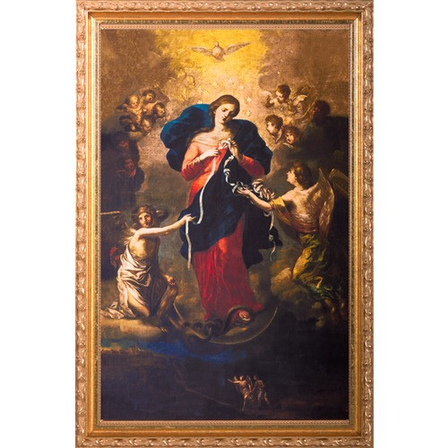 Mary Untier of Knots in Ornate Gold Frame, 14x22