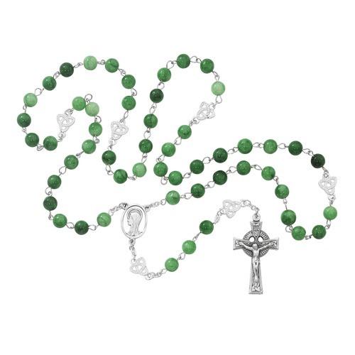 Irish Jade Glass Rosary 8mm