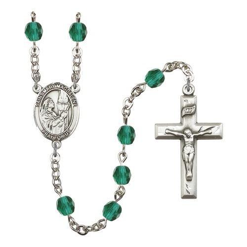 St. Mary Magdalene Teal December Rosary 6mm