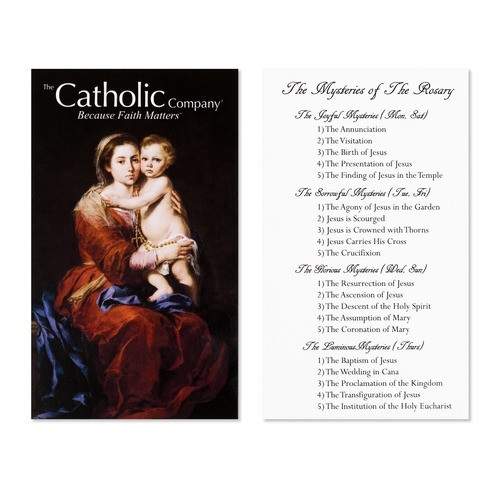 Rosary Mysteries Prayer Card