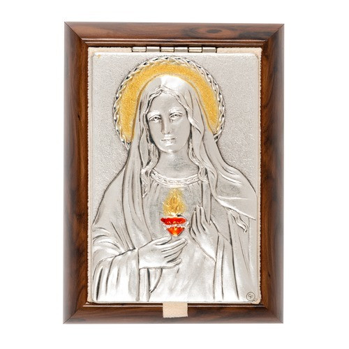 Immaculate Heart Plaque Rosary Keepsake Box