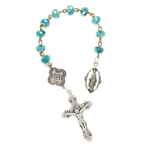 Teal Two Tone Rosary Tenner