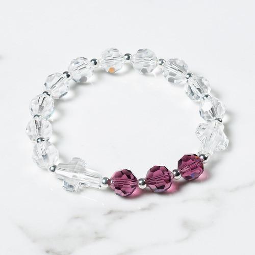 February Birthstone Rosary Bracelet