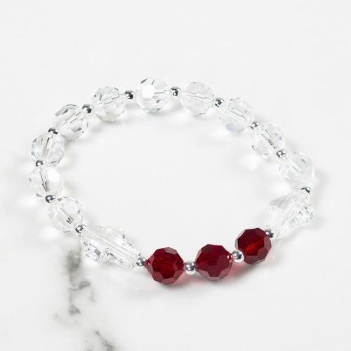 January Birthstone Rosary Bracelet