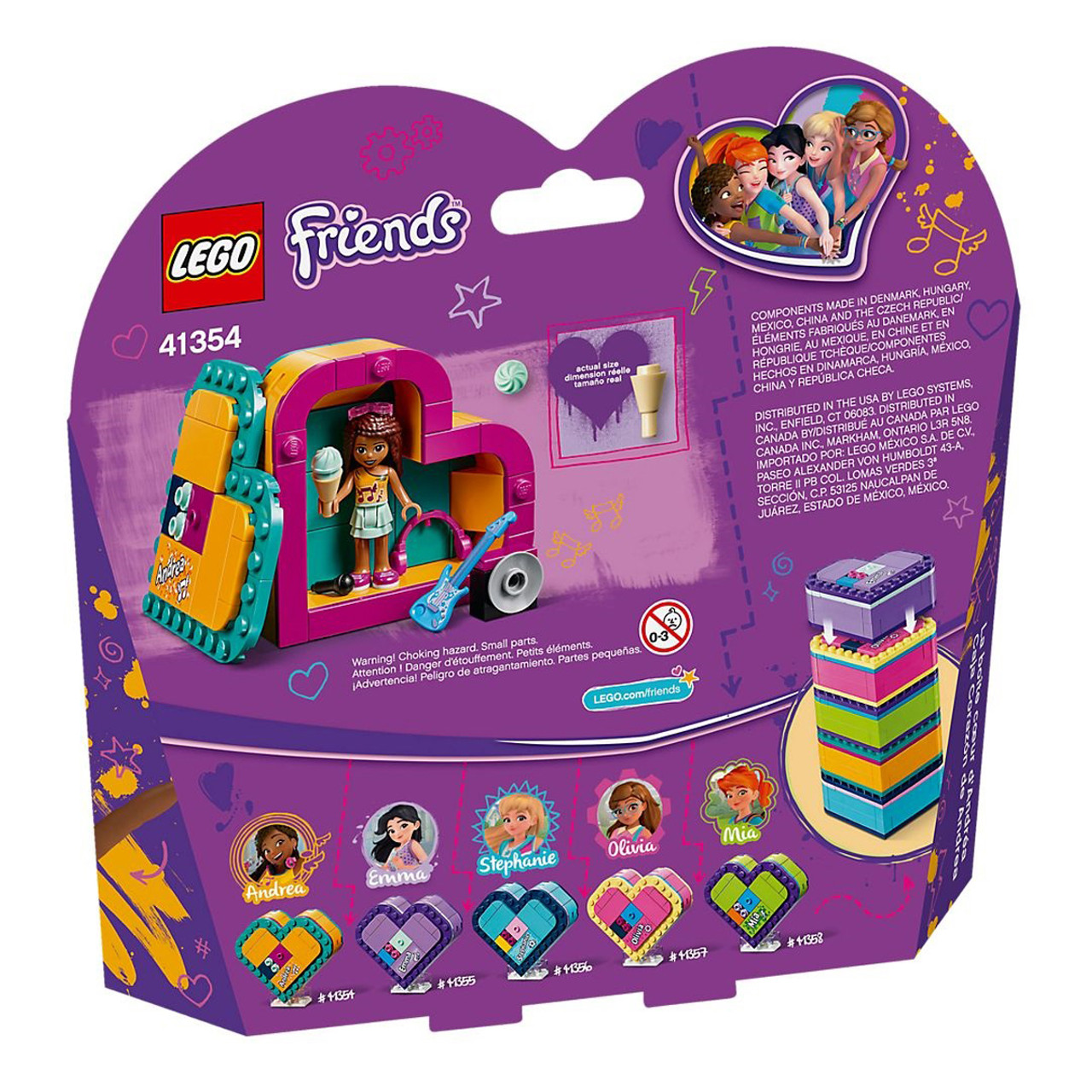 Lego Friends 41354 Andreas Heart Box Purple Turtle Toys Australia