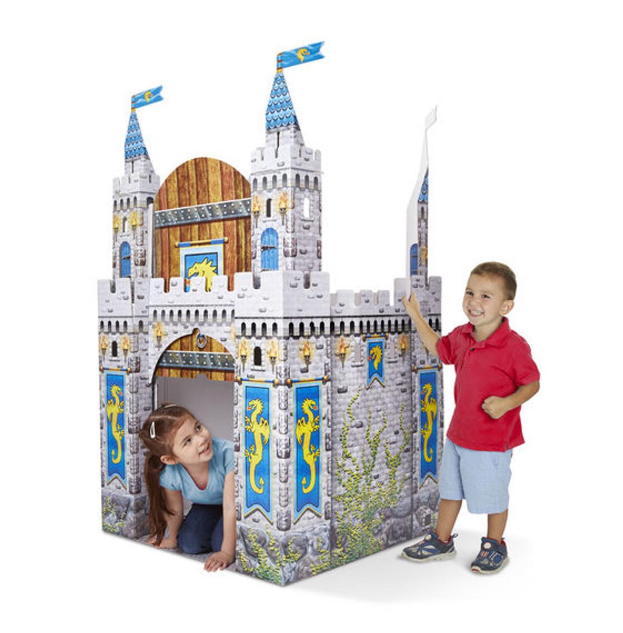 Melissa And Doug Cardboard Medieval Castle Indoor Playhouse