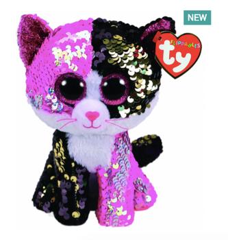 TY Flippables 36261 Malibu Pink-Black Cat - 18cm 8bc449d00fab