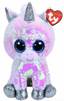 TY Flippables 36435 Diamond White Unicorn Medium - 24m 102e75c35751