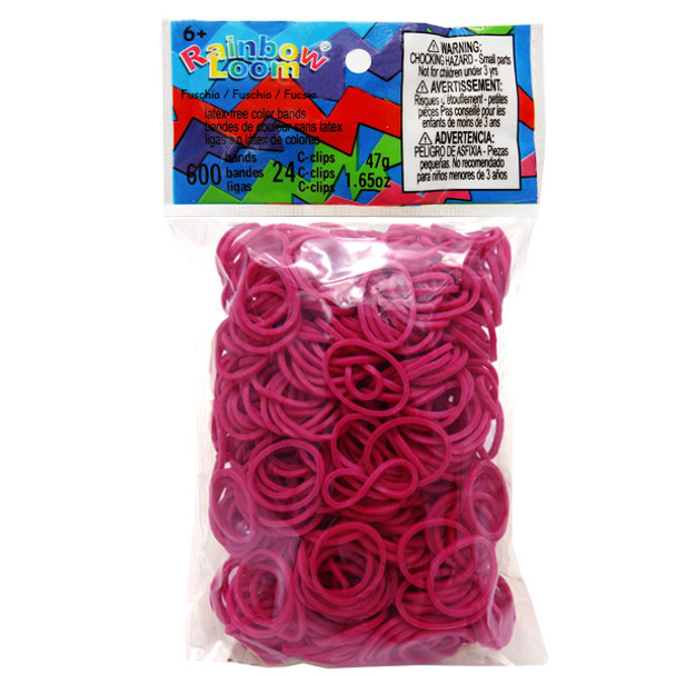 Fuschia - Rainbow Loom Rubber Bands