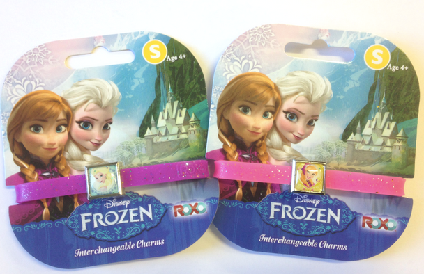 Frozen Elsa and Anna Glitter Charm Bracelet Set by ROXO