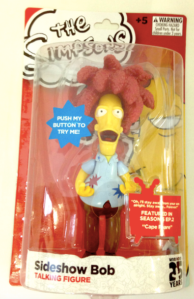 Sideshow Bob 25 Year Anniversary Talking Figure