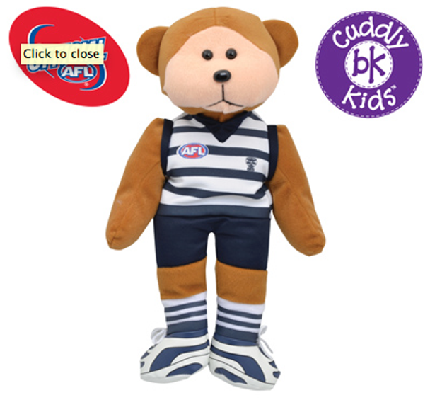 AFL Beanie Kid Bear - Geelong