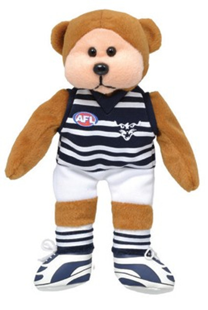 AFL Beanie Kid Bear - Geelong Away