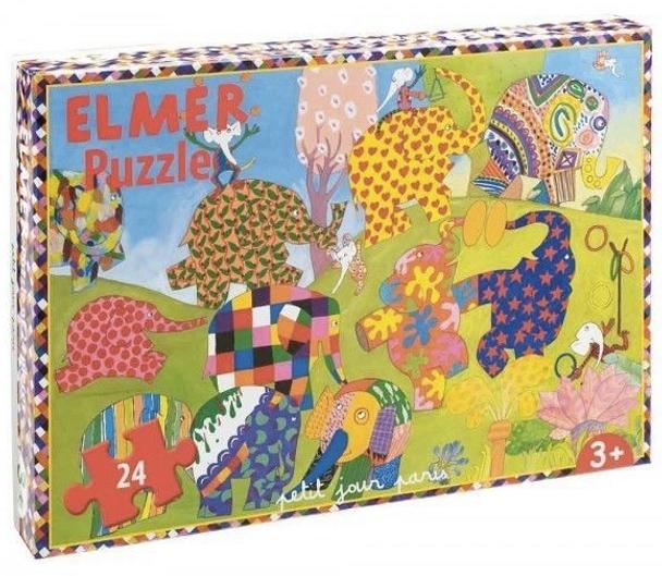 Elmer the Patchwork Elephant Puzzle 24 Pieces