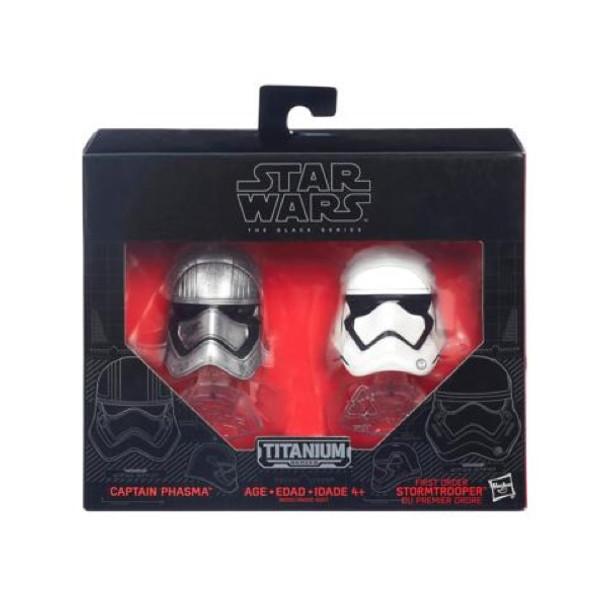 Star Wars Black Series Captain Phasma & First Order Stormtrooper Helmets by Hasbro