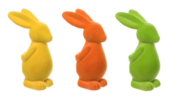 Decorative Neon Cartoon Easter Bunnies 22 cm - Set of 3