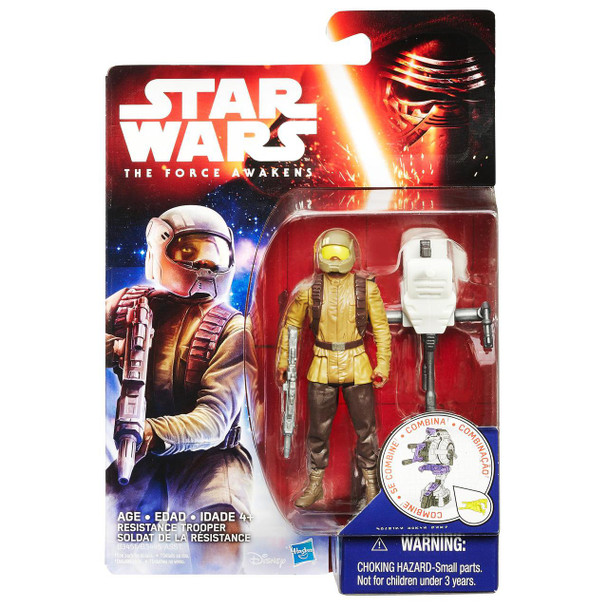 Star Wars VII Resistance Trooper 3.75-inch Action Figure by Hasbro