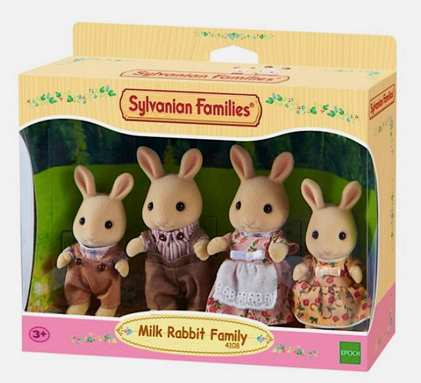 Sylvanian Milk Rabbit Family