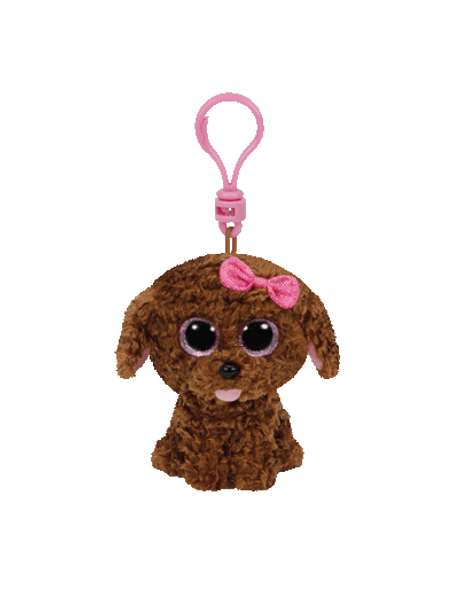 Ty Beanie Boos Maddie the Curly Brown Dog Clip On