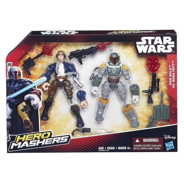 """Star Wars VII Hero Mashers 6"""" Action Figure Battle Pack - Han Solo vs Boba Fett"""