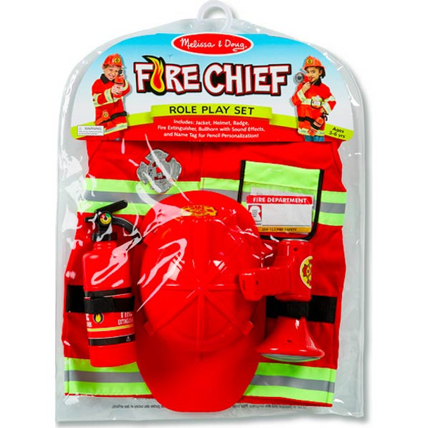 Fireman Fire Chief Costume by Melissa & Doug - ON SALE!